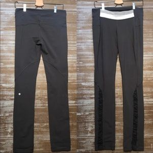 Lululemon Gray Ruched Leggings Silverspoon Size 10